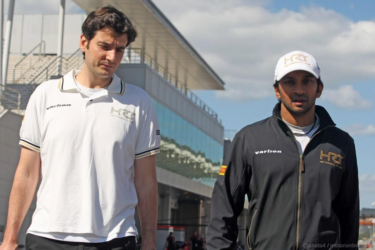 GP COREA, 11.10.2012- Narain Karthikeyan (IND) HRT Formula 1 Team F112