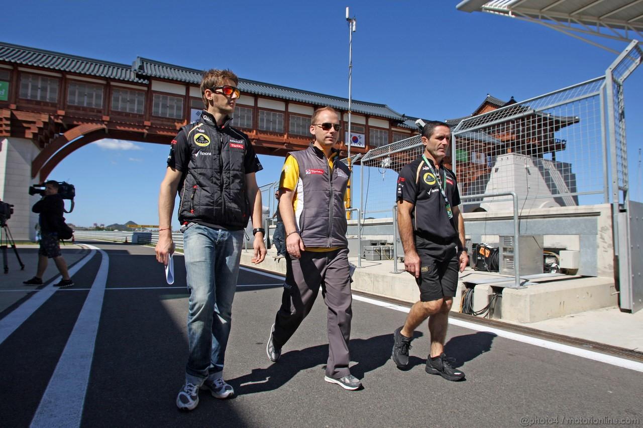 GP COREA, 11.10.2012- Romain Grosjean (FRA) Lotus F1 Team E20