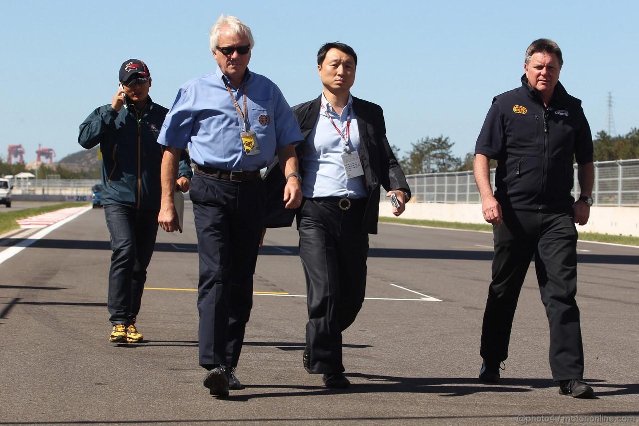 GP COREA, 11.10.2012- Charlie Whiting (GBR), Gara director e safety delegate