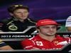 GP COREA, 11.10.2012- Conferenza Stampa, Romain Grosjean (FRA) Lotus F1 Team E20 e Fernando Alonso (ESP) Ferrari F2012