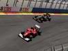 GP EUROPA, 24.06.2012- Gara, Fernando Alonso (ESP) Ferrari F2012 e Kimi Raikkonen (FIN) Lotus F1 Team E20