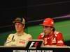 GP EUROPA, 24.06.2012- Gara, Conferenza Stampa,Kimi Raikkonen (FIN) Lotus F1 Team E20 e Fernando Alonso (ESP) Ferrari F2012