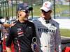 GP GIAPPONE, 07.10.2012- Sebastian Vettel (GER) Red Bull Racing RB8 e Michael Schumacher (GER) Mercedes AMG F1 W03