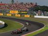 GP GIAPPONE, 07.10.2012- Gara, Lewis Hamilton (GBR) McLaren Mercedes MP4-27 davanti a Sergio P�rez (MEX) Sauber F1 Team C31