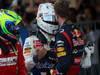 GP GIAPPONE, 07.10.2012- Gara, secondo Felipe Massa (BRA) Ferrari F2012, terzo Kamui Kobayashi (JAP) Sauber F1 Team C31 e Sebastian Vettel (GER) Red Bull Racing RB8 vincitore