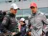 GP GRAN BRETAGNA, 08.07.2012- Nico Rosberg (GER) Mercedes AMG F1 W03 e Jenson Button (GBR) McLaren Mercedes MP4-27