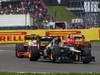 GP GRAN BRETAGNA, 08.07.2012- Gara, Heikki Kovalainen (FIN) Caterham F1 Team CT01 e Narain Karthikeyan (IND) HRT Formula 1 Team F112