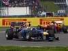 GP GRAN BRETAGNA, 08.07.2012- Gara, Sebastian Vettel (GER) Red Bull Racing RB8 e Felipe Massa (BRA) Ferrari F2012
