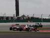 GP GRAN BRETAGNA, 08.07.2012- Gara, Jenson Button (GBR) McLaren Mercedes MP4-27 davanti a Lewis Hamilton (GBR) McLaren Mercedes MP4-27