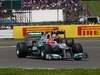 GP GRAN BRETAGNA, 08.07.2012- Gara, Michael Schumacher (GER) Mercedes AMG F1 W03 e Kimi Raikkonen (FIN) Lotus F1 Team E20