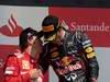 GP GRAN BRETAGNA, 08.07.2012- Gara, secondo Fernando Alonso (ESP) Ferrari F2012 e Mark Webber (AUS) Red Bull Racing RB8 vincitore