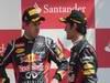 GP GRAN BRETAGNA, 08.07.2012- Gara, terzo Sebastian Vettel (GER) Red Bull Racing RB8 e Mark Webber (AUS) Red Bull Racing RB8 vincitore