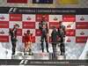 GP GRAN BRETAGNA, 08.07.2012- Gara, 1st position Mark Webber (AUS) Red Bull Racing RB8, secondo Fernando Alonso (ESP) Ferrari F2012 e terzo Sebastian Vettel (GER) Red Bull Racing RB8 with Sir Jackie Stewart (GBR)