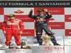 GP GRAN BRETAGNA, 08.07.2012- Gara, 1st position Mark Webber (AUS) Red Bull Racing RB8 e secondo Fernando Alonso (ESP) Ferrari F2012