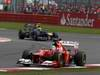 GP GRAN BRETAGNA, 08.07.2012- Gara, Fernando Alonso (ESP) Ferrari F2012 davanti a Mark Webber (AUS) Red Bull Racing RB8