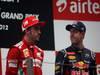 GP INDIA, 28.10.2012- Gara, secondo Fernando Alonso (ESP) Ferrari F2012 e Sebastian Vettel (GER) Red Bull Racing RB8 vincitore