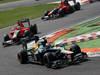 GP ITALIA, 09.09.2012- Gara,  Vitaly Petrov (RUS) Caterham F1 Team CT01 davanti a Timo Glock (GER) Marussia F1 Team MR01