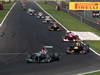 GP ITALIA, 09.09.2012- Gara,  Michael Schumacher (GER) Mercedes AMG F1 W03 davanti a Sebastian Vettel (GER) Red Bull Racing RB8