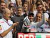 GP ITALIA, 09.09.2012- Gara, Festeggiamenti, secondo Sergio P�rez (MEX) Sauber F1 Team C31