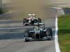 GP ITALIA, 09.09.2012- Gara, Nico Rosberg (GER) Mercedes AMG F1 W03 davanti a Kamui Kobayashi (JAP) Sauber F1 Team C31