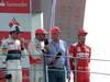 GP ITALIA, 09.09.2012- Gara, secondo Sergio P�rez (MEX) Sauber F1 Team C31, Lewis Hamilton (GBR) McLaren Mercedes MP4-27 vincitore, Nikki Lauda (AU) e terzo Fernando Alonso (ESP) Ferrari F2012