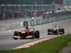 GP MALESIA, 25.03.2012- Gara, Fernando Alonso (ESP) Ferrari F2012 davanti a Sergio Pérez (MEX) Sauber F1 Team C31