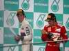 GP MALESIA, 25.03.2012- Gara, Sergio Pérez (MEX) Sauber F1 Team C31 secondo e Fernando Alonso (ESP) Ferrari F2012 vincitore