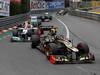 GP MONACO, 27.05.2012- Gara, Kimi Raikkonen (FIN) Lotus F1 Team E20 e Michael Schumacher (GER) Mercedes AMG F1 W03