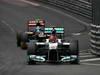 GP MONACO, 27.05.2012- Gara, Michael Schumacher (GER) Mercedes AMG F1 W03 davanti a Jean-Eric Vergne (FRA) Scuderia Toro Rosso STR7