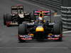 GP MONACO, 27.05.2012- Gara, Sebastian Vettel (GER) Red Bull Racing RB8 davanti a Kimi Raikkonen (FIN) Lotus F1 Team E20