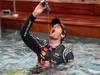 GP MONACO, 27.05.2012- Festeggiamenti, Mark Webber (AUS) Red Bull Racing RB8 vincitore