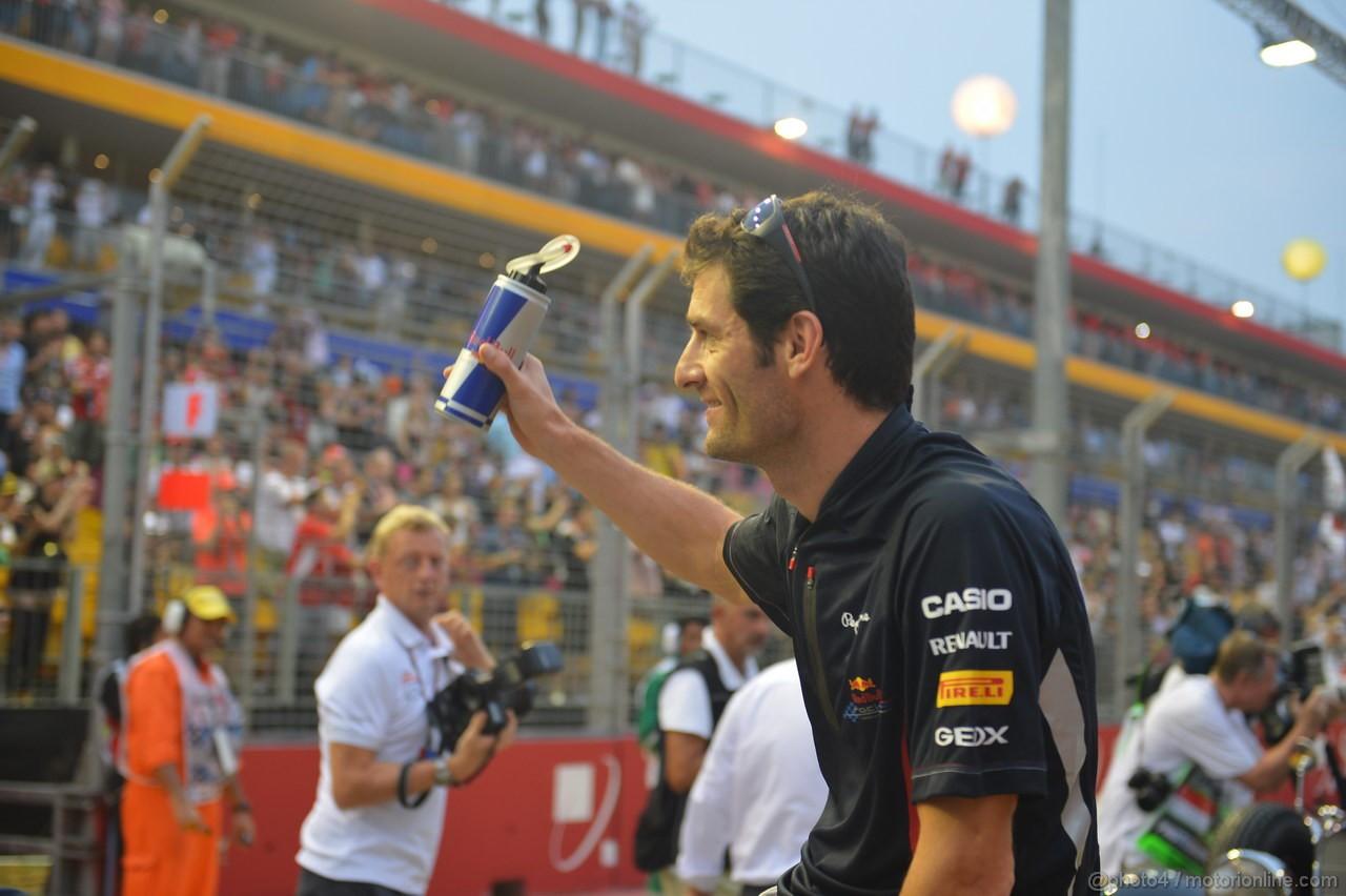 GP SINGAPORE, 23.09.2012 - Mark Webber (AUS) Red Bull Racing RB8