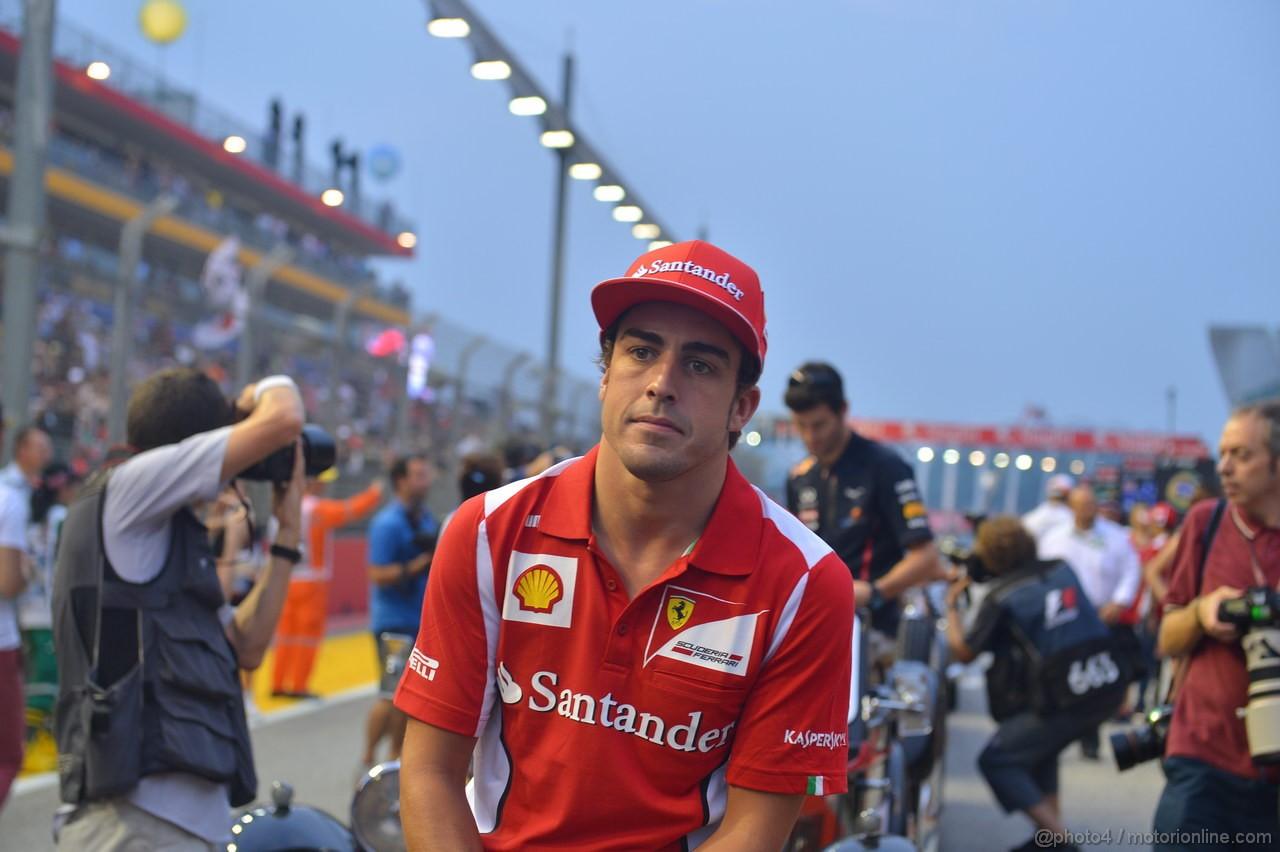 GP SINGAPORE, 23.09.2012 - Fernando Alonso (ESP) Ferrari F2012