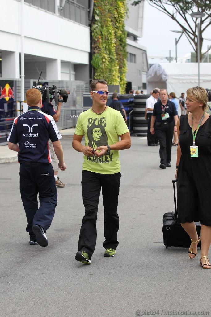 GP SINGAPORE, 23.09.2012 - Michael Schumacher (GER) Mercedes AMG F1 W03