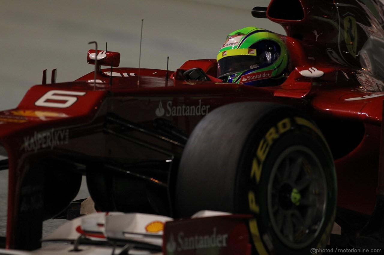 GP SINGAPORE, 23.09.2012 - Gara, Felipe Massa (BRA) Ferrari F2012