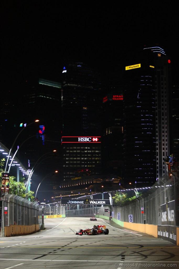 GP SINGAPORE, 23.09.2012 - Gara, Lewis Hamilton (GBR) McLaren Mercedes MP4-27