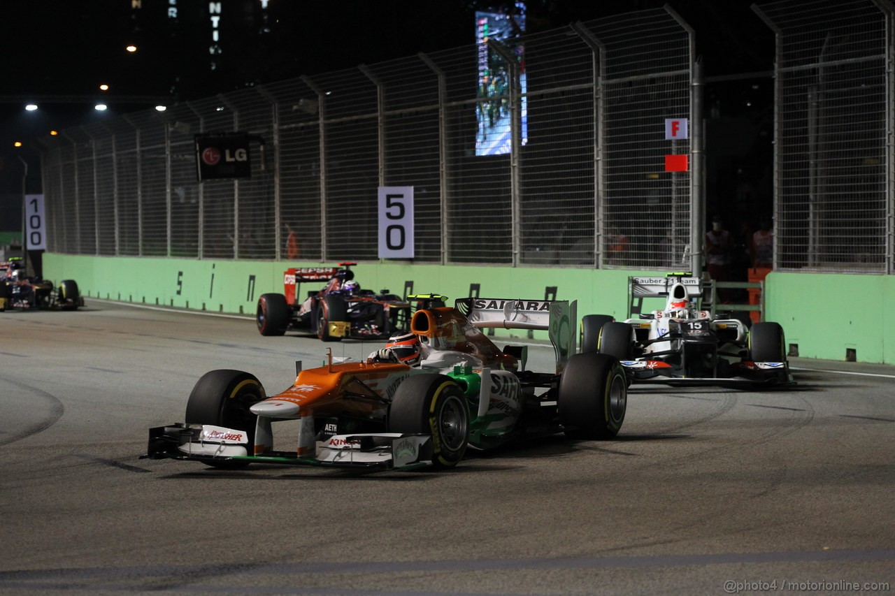 GP SINGAPORE, 23.09.2012 - Gara, Nico Hulkenberg (GER) Sahara Force India F1 Team VJM05