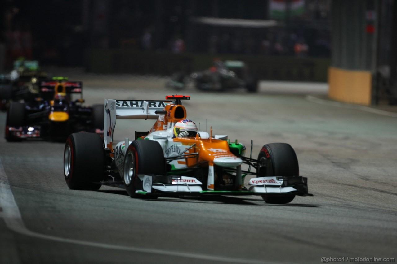 GP SINGAPORE, 23.09.2012 - Gara, Paul di Resta (GBR) Sahara Force India F1 Team VJM05