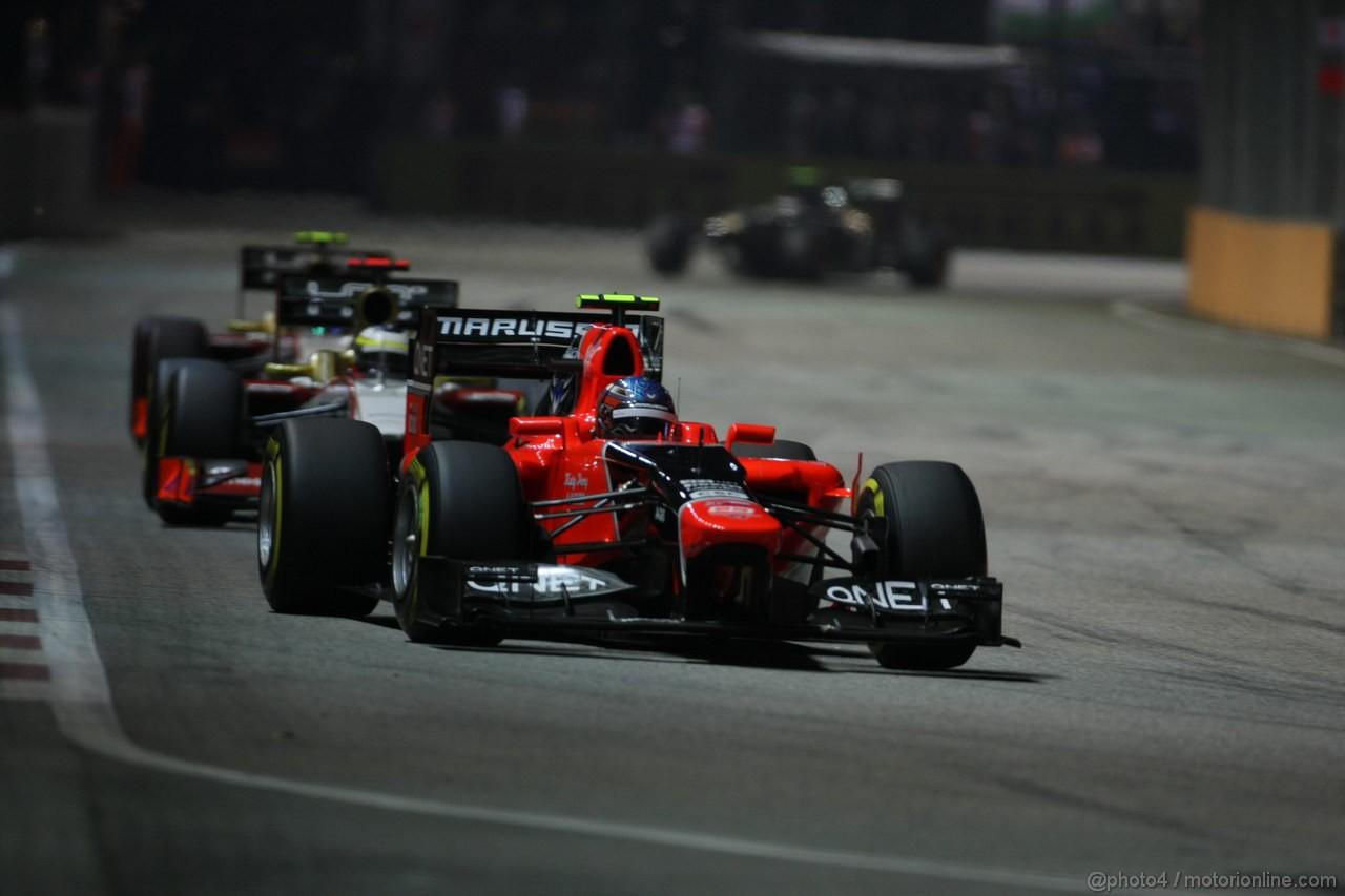 GP SINGAPORE, 23.09.2012 - Gara, Charles Pic (FRA) Marussia F1 Team MR01