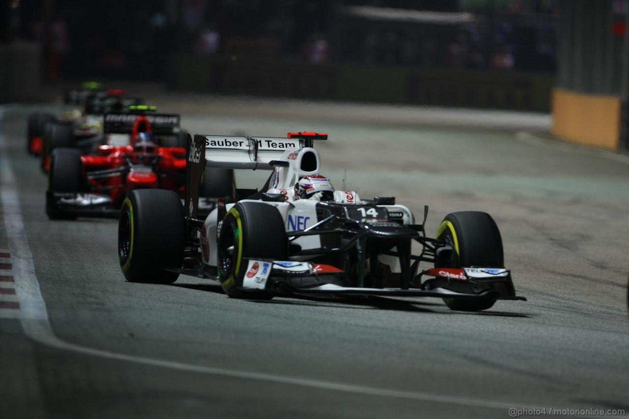 GP SINGAPORE, 23.09.2012 - Gara, Kamui Kobayashi (JAP) Sauber F1 Team C31