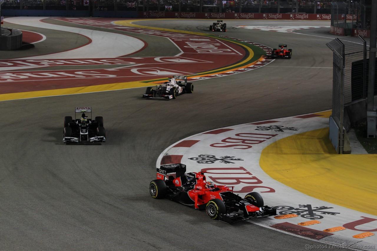 GP SINGAPORE, 23.09.2012 - Gara, Timo Glock (GER) Marussia F1 Team MR01