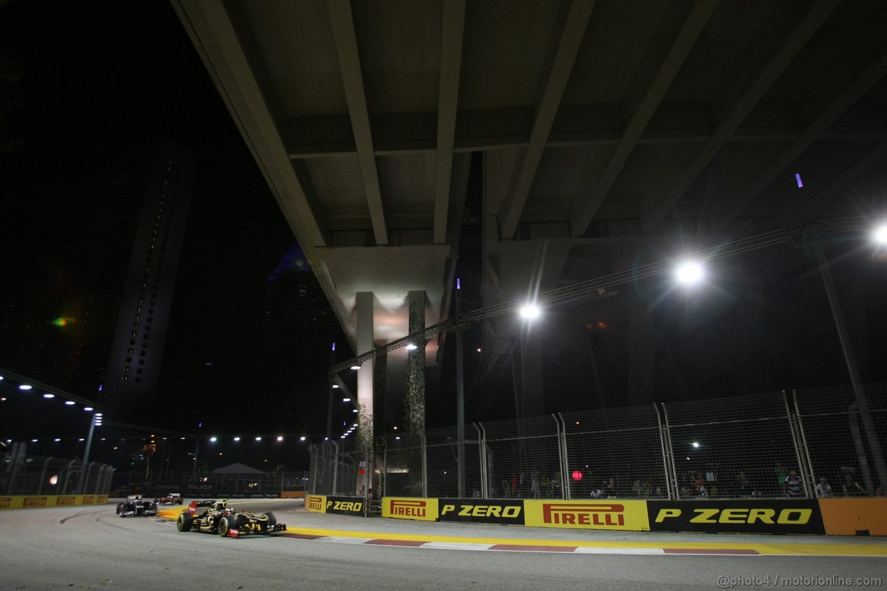 GP SINGAPORE, 23.09.2012 - Gara, Romain Grosjean (FRA) Lotus F1 Team E20