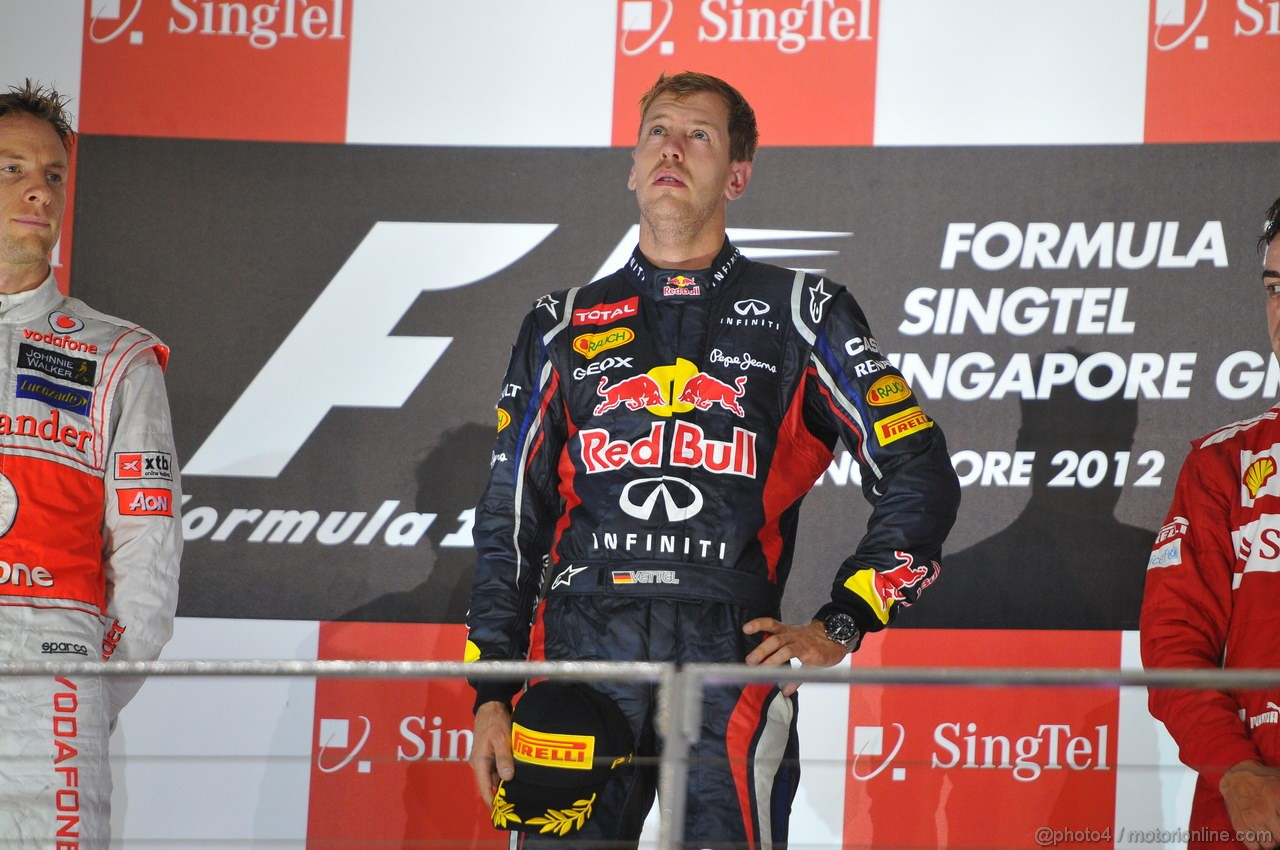 GP SINGAPORE, 23.09.2012 - Gara, Sebastian Vettel (GER) Red Bull Racing RB8