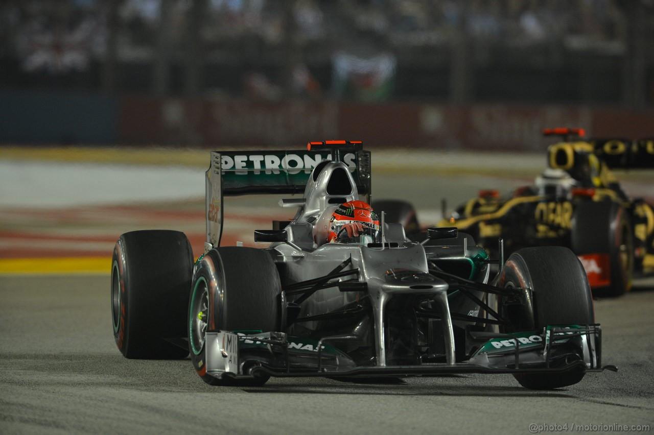 GP SINGAPORE, 23.09.2012 - Gara,Michael Schumacher (GER) Mercedes AMG F1 W03