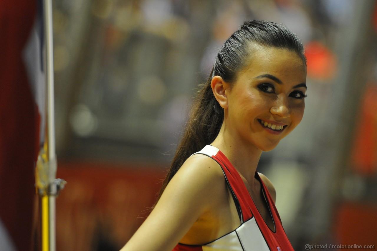 GP SINGAPORE, 23.09.2012 - Gara, grid girl, pitbabess