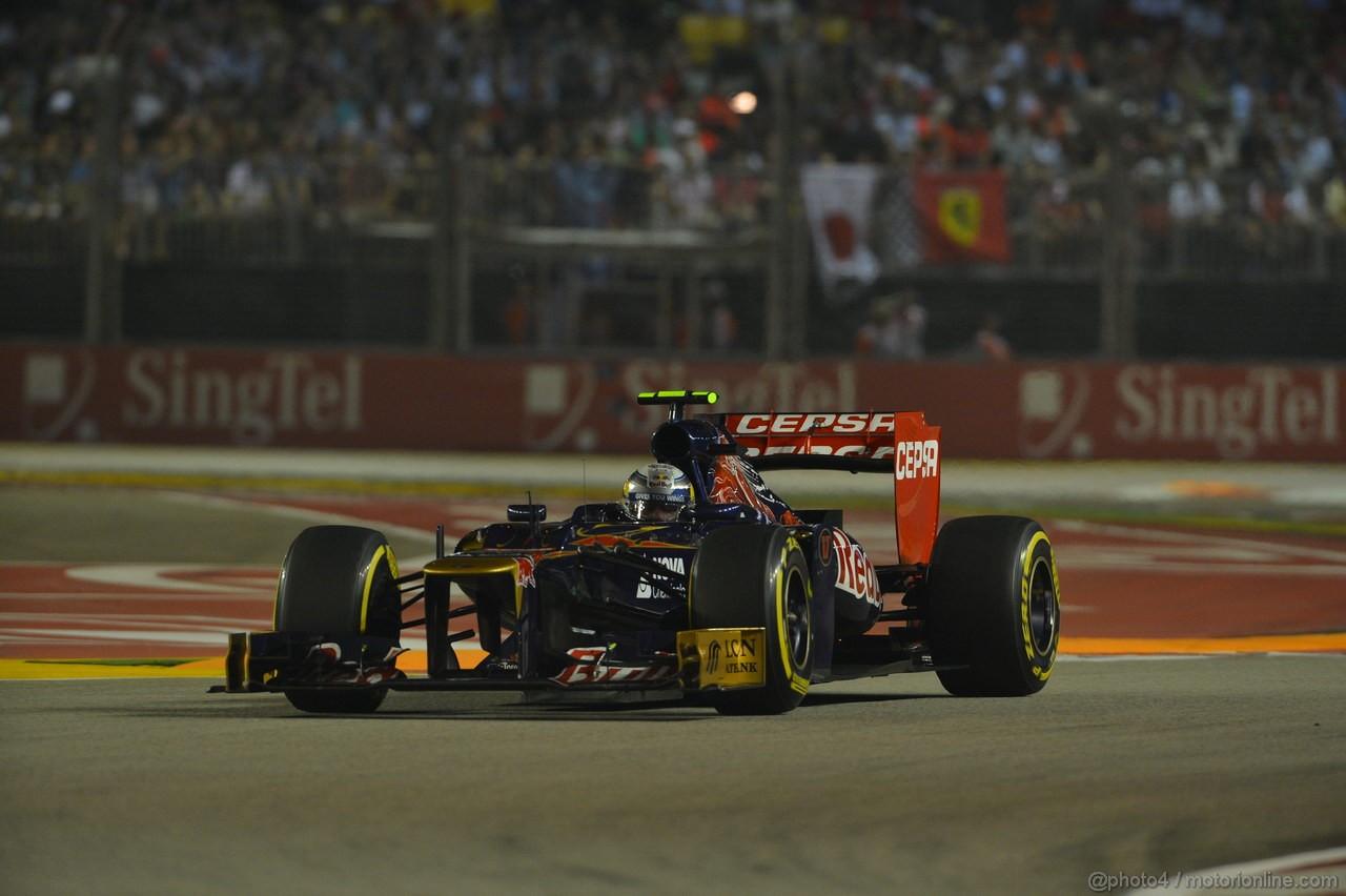 GP SINGAPORE, 23.09.2012 - Gara, Jean-Eric Vergne (FRA) Scuderia Toro Rosso STR7