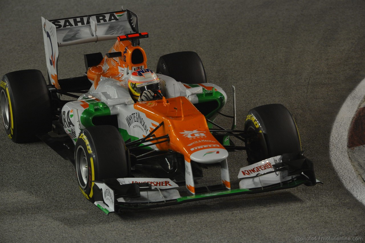 GP SINGAPORE, 23.09.2012 - Gara, Paul di Resta (GBR) Sahara Force India F1 Team VJM05