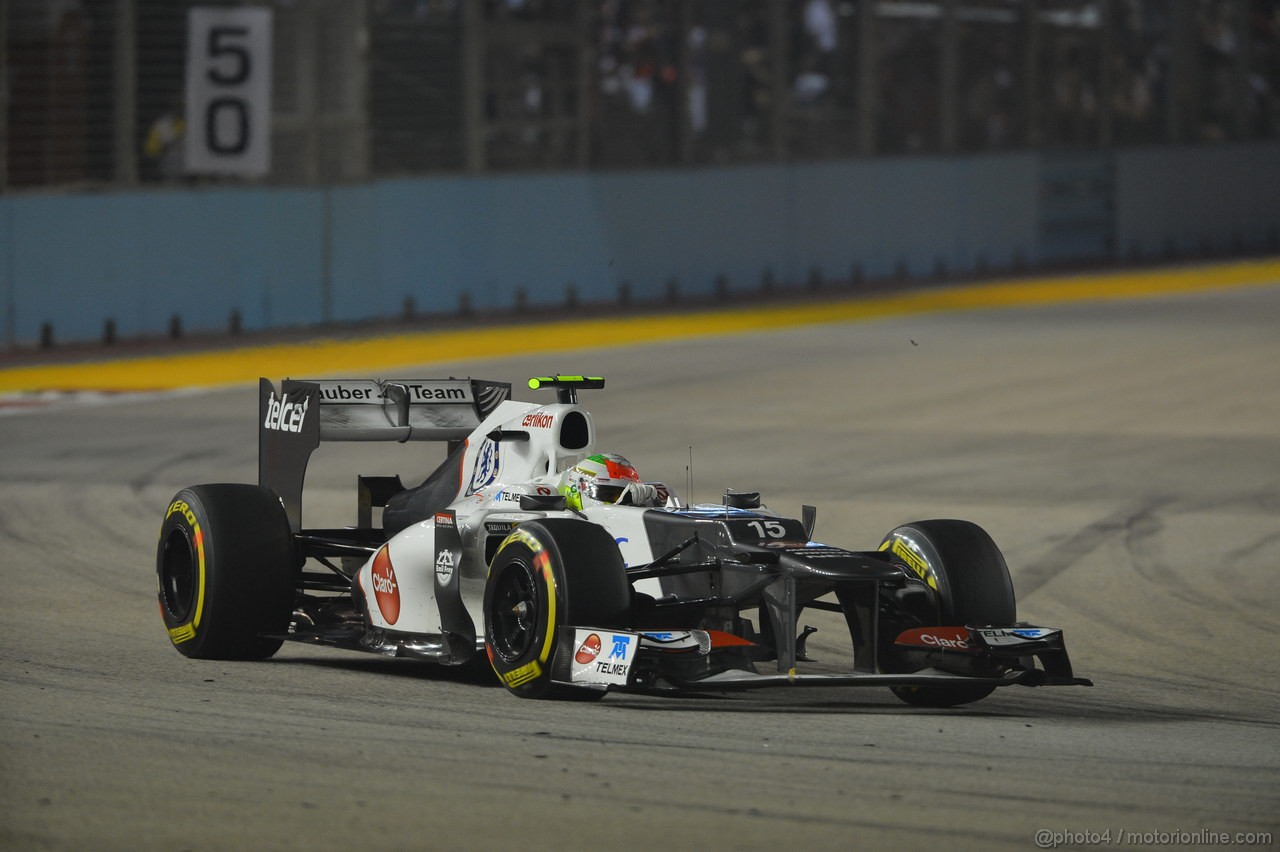 GP SINGAPORE, 23.09.2012 - Gara, Sergio P�rez (MEX) Sauber F1 Team C31