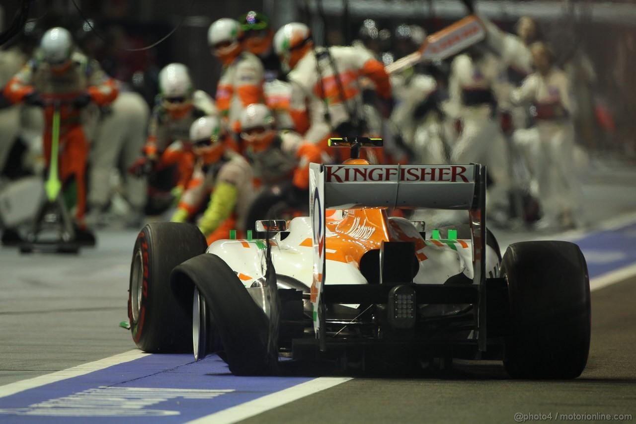GP SINGAPORE, 23.09.2012 - Gara, Nico Hulkenberg (GER) Sahara Force India F1 Team VJM05