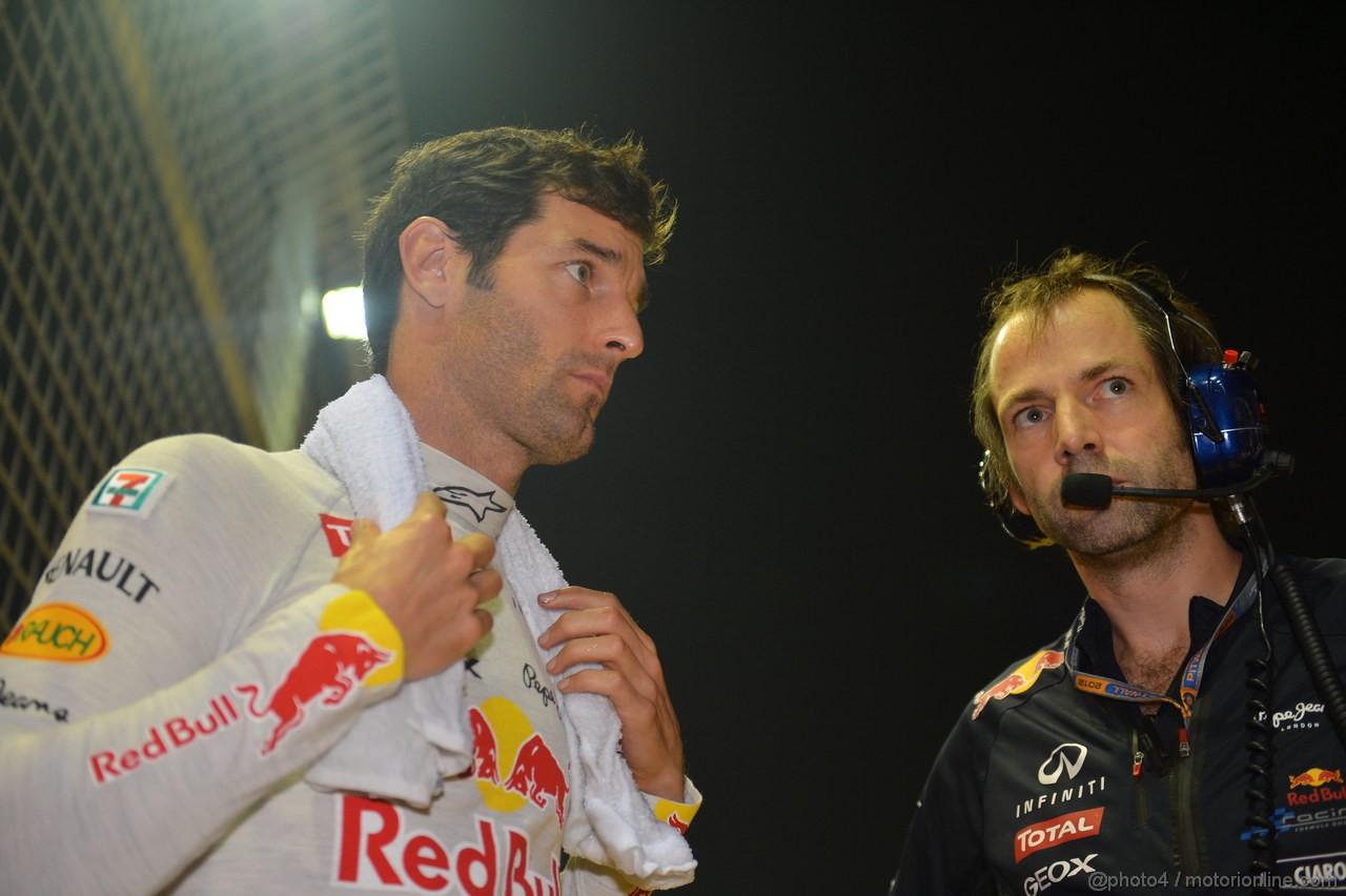 GP SINGAPORE, 23.09.2012 - Gara, Mark Webber (AUS) Red Bull Racing RB8